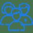 Blue icon multiple people