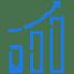 Blue icon progress graph