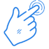 Blue mouse hand icon illustration