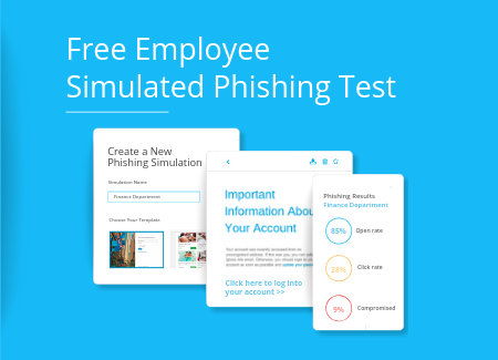 Free employee phishing simulation test.