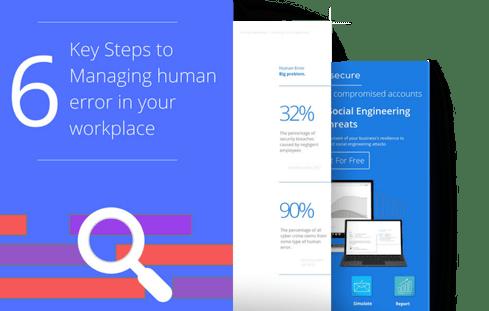 Landing page human error promo