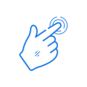 Mouse hand icon - dark blue