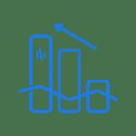 Progress graph dark blue