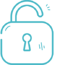 Exposed employee email icon in turquoise.
