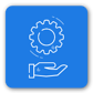 uService primary icon in blue