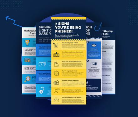 Security awareness month infographics